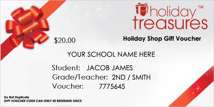 Gift Voucher Certificate - Holiday Shop