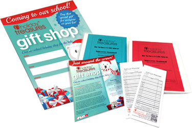 Free School Holiday Shop Promotional Materials