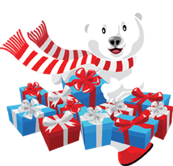 Holiday Treasures Presents Gift Shop Bear